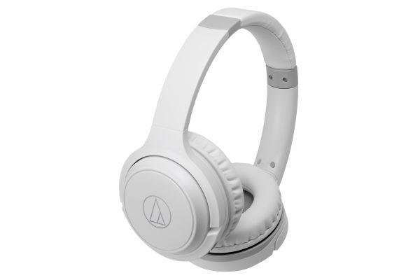 Audio-Technica White Wireless On-Ear Headphones - ATH-S200BTWH