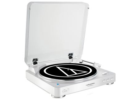 Audio-Technica White Fully Automatic Wireless Belt-Drive Stereo Turntable  - AT-LP60WH-BT