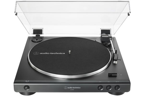 Large image of Audio-Technica Black Fully Automatic Belt-Drive Stereo Turntable - AT-LP60X-BK