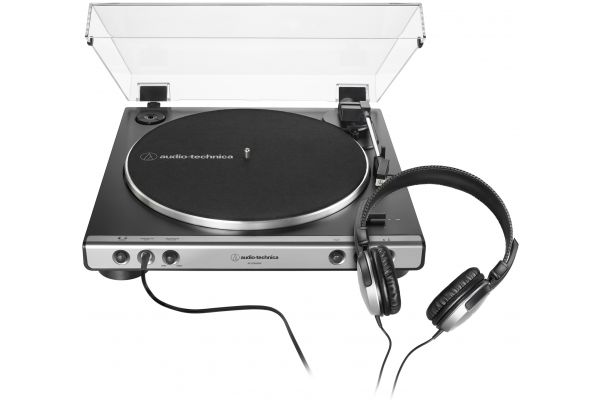 Audio-Technica Gun Metal Fully Automatic Belt-Drive Stereo Turntable With Headphones - AT-LP60XHP