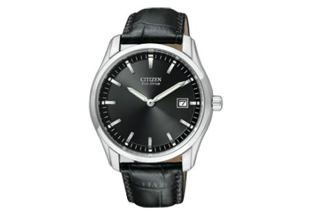 Citizen Eco-Drive Black Dial Mens Watch - AU1040-08E