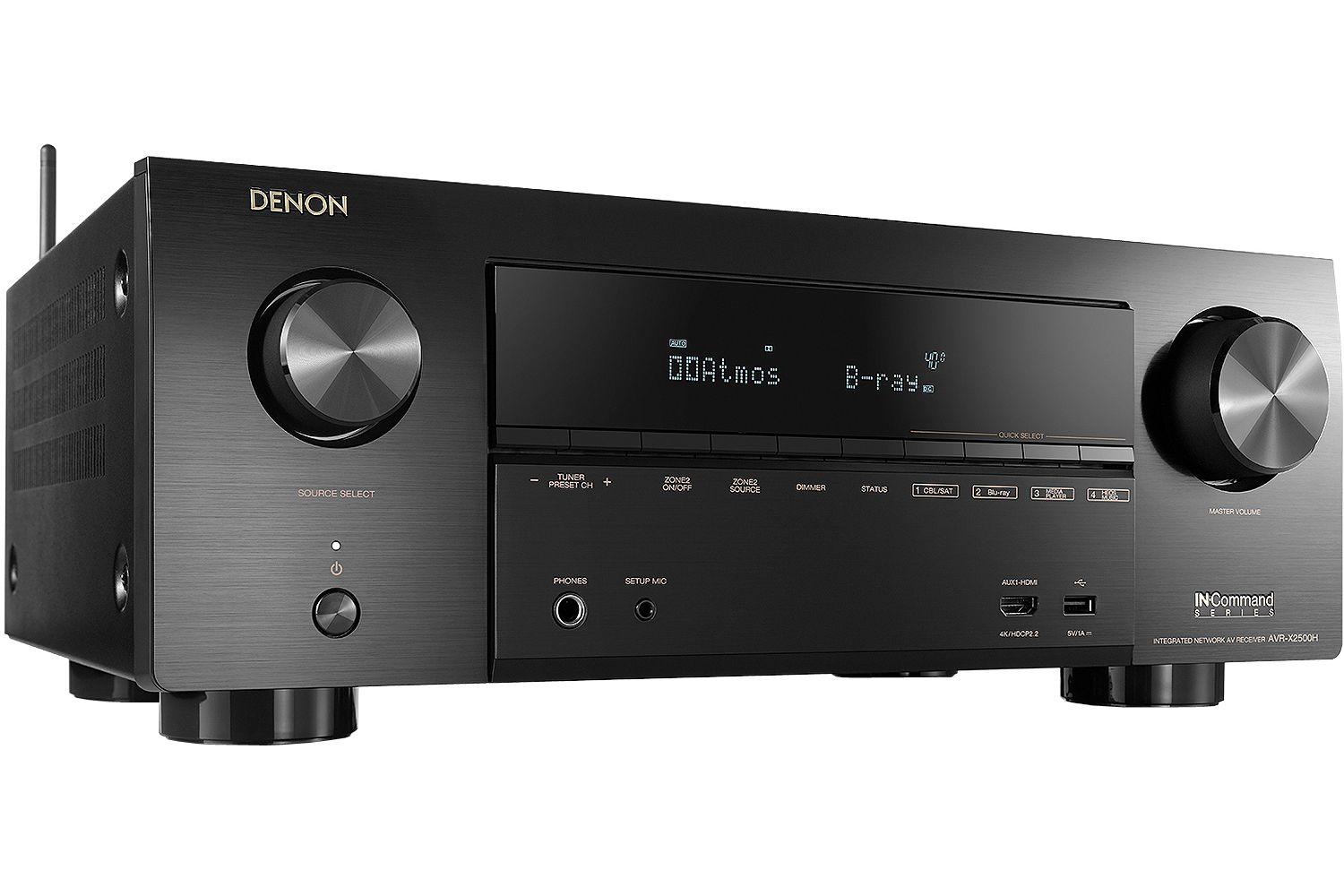 Denon 7 2 Channel Full 4K Ultra HD AV Receiver With Amazon Alexa Voice  Control