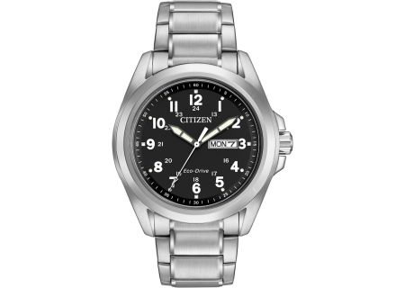 Citizen Eco-Drive Sport Stainless Steel Mens Watch - AW0050-82E