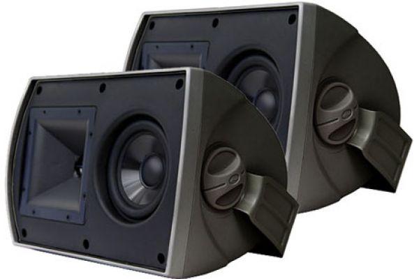 """Large image of Klipsch 5.25"""" Two-Way All Weather Black Pair Loudspeakers (Pair) - 1009313"""