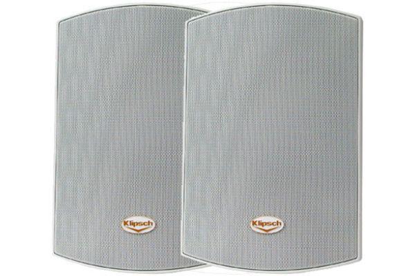 "Klipsch White 5.25"" Two-Way All Weather Pair Loudspeakers (Pair) - 09709000001"