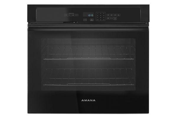 "Amana 4.3 Cu. Ft. Black 27"" Single Electric Wall Oven  - AWO6317SFB"