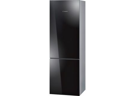 "Bosch 800 Series 24"" Black Counter Depth Bottom Freezer Refrigerator - B10CB80NVB"