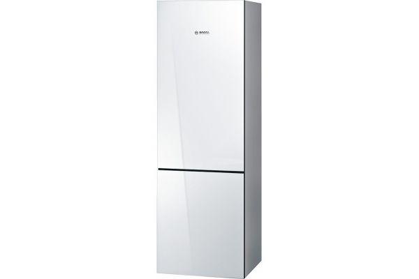 "Bosch 800 Series 24"" White Counter Depth Bottom Freezer Refrigerator - B10CB80NVW"