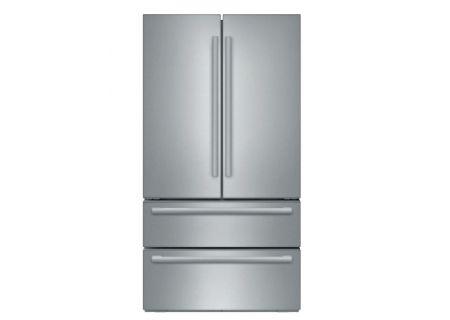 """Bosch 36"""" Stainless Steel 4-Door Counter Depth French Door Refrigerator - B21CL81SNS"""