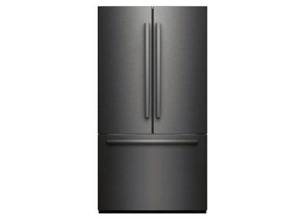 """Bosch 800 Series 36"""" Black Stainless Steel 3-Door Counter Depth French Door Refrigerator - B21CT80SNBS"""