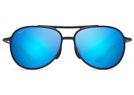 Maui Jim Alelele Bridge Matte Blue Sunglasses - B438-03M