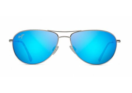Maui Jim Sea House Silver And Blue Hawaii Unisex Sunglasses - B772-17