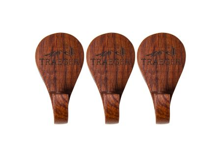 Traeger 3 Piece Rosewood Grill Hopper Magnetic Wooden Hooks - BAC419