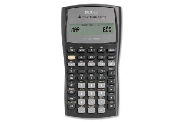 Large image of Texas Instruments BAII + Financial Calculator - BA-II-PLUS