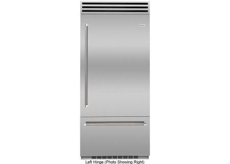"""BlueStar 36"""" Built-In Stainless Steel Left Hinge Refrigerator - BBB36SSL2"""