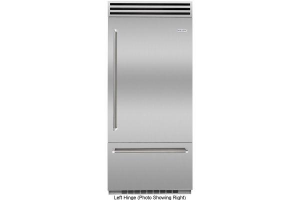 "Large image of BlueStar PRO 36"" Stainless Steel Left-Hinge Built-In Refrigerator - BBB36SSL2"