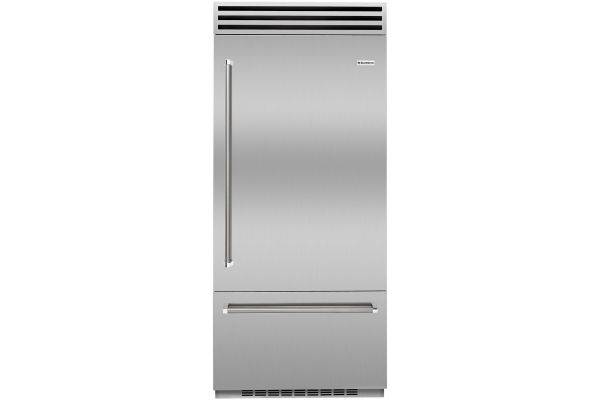 """Large image of BlueStar PRO 36"""" Stainless Steel Right-Hinge Built-In Refrigerator - BBB36SSR2"""