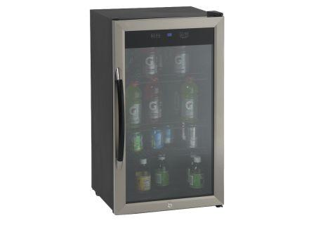 Avanti 3.0 Cu. Ft. Black Cabinet With Stainless Steel Door Beverage Cooler  - BCA306SS-IS