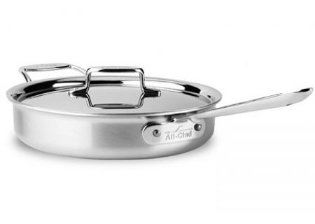 All-Clad D5 3-Quart Brushed Stainless Saute Pan - BD55403