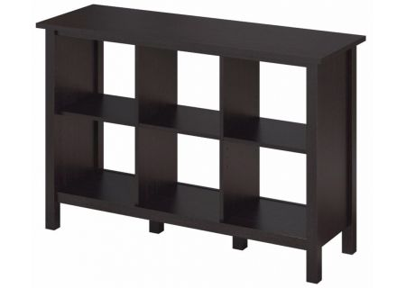 Bush Furniture Broadview Espresso Oak 6 Cube Bookcase - BDB145EO-03