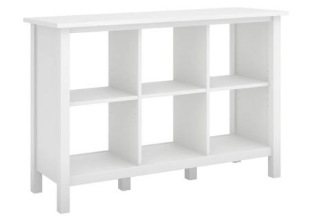 Bush Furniture Broadview Pure White 6 Cube Bookcase - BDB145WH-03