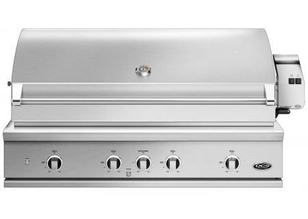 "DCS 48"" Built-In Stainless Steel Series 9 Liquid Propane Gas Grill With Rotisseries And Charcoal - BE1-48RC-L"