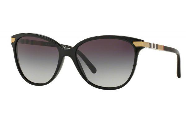 Large image of Burberry Black Cat Eye Womens Sunglasses - BE4216 30018G