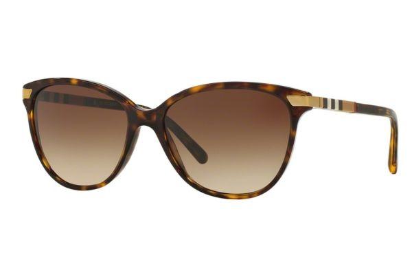 Large image of Burberry Dark Havana Cat Eye Womens Sunglasses - BE4216 300213 57-16