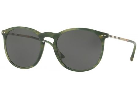 Burberry Round Shape Striped Green Mens Sunglasses - 0BE4250Q 365987 54
