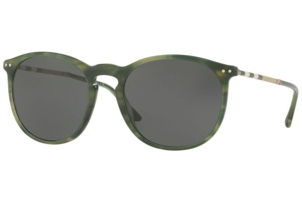 Burberry Round Shape Striped Green Mens Sunglasses - 0BE4250Q 365987 54