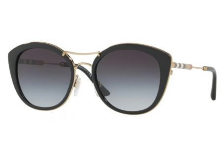 Burberry Round Shape Black Womens Sunglasses - 0BE4251Q 30018G 53
