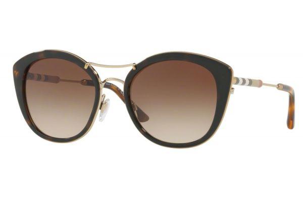 Large image of Burberry Round Shape Dark Havana Womens Sunglasses - 0BE4251Q 300213 53