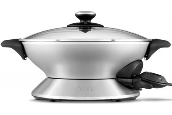 Large image of Breville Stainless Steel Electric Hot Wok - BEW600XL