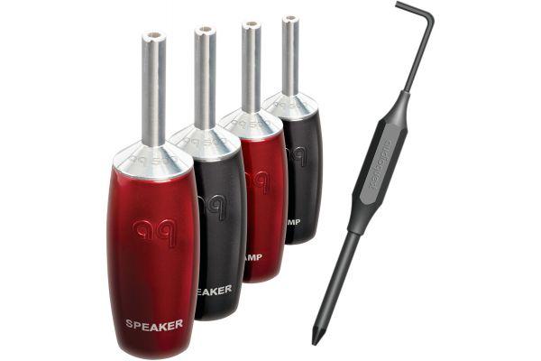 AudioQuest 500 Series Silver Banana Plugs - BFA5004PKS
