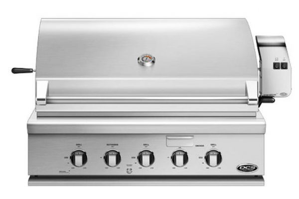 "DCS 36"" Stainless Steel Traditional Built-In Liquid Propane Gas Grill With Rotisserie - BH1-36R-L"