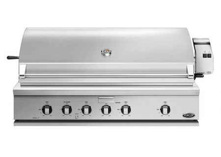 """DCS 48"""" Stainless Steel Traditional Built-In Liquid Propane Gas Grill With Rotisserie - BH1-48R-L"""