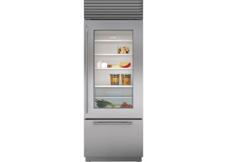 "Sub-Zero 30"" Right Hinge Stainless Steel Built-In Bottom Freezer Refrigerator - BI-30UG/S/TH-RH"