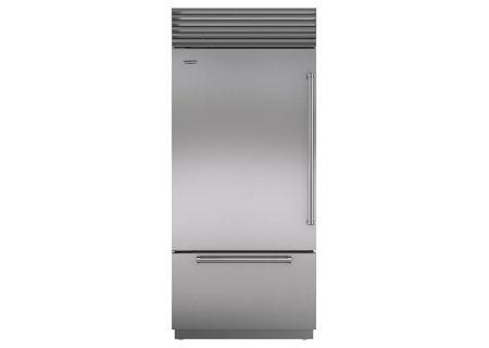 "Sub-Zero 36"" Built-In Stainless Steel Bottom Freezer Refrigerator  - BI36UIDSPHLH"