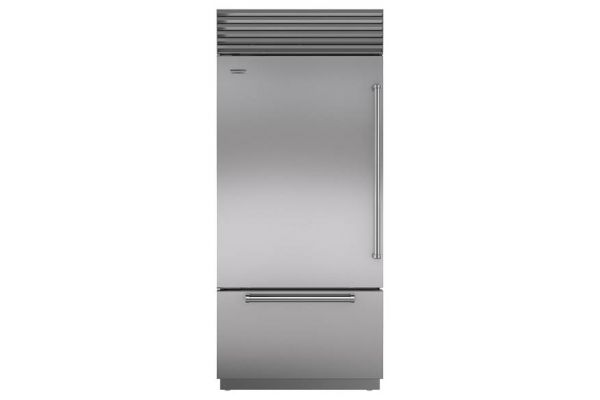 "Sub-Zero 36"" Built-In Stainless Steel Bottom Freezer Refrigerator - BI36UIDSPHLH"