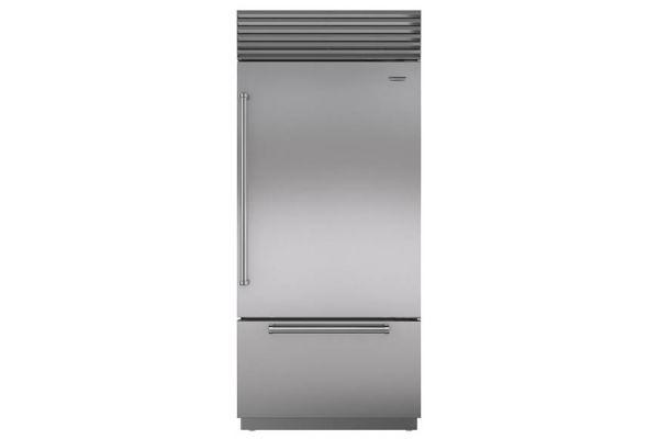 "Sub-Zero 36"" Built-In Stainless Steel Bottom Freezer Refrigerator - BI36UIDSPHRH"