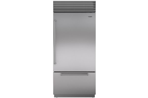 "Sub-Zero 36"" Stainless Steel Built-in Bottom-Freezer Refrigerator - BI-36U/S/PH-RH"