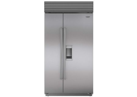 """Sub-Zero 42"""" Stainless Steel with Pro Handles Built-In Side-By-Side Refrigerator - BI-42SD/S/PH"""