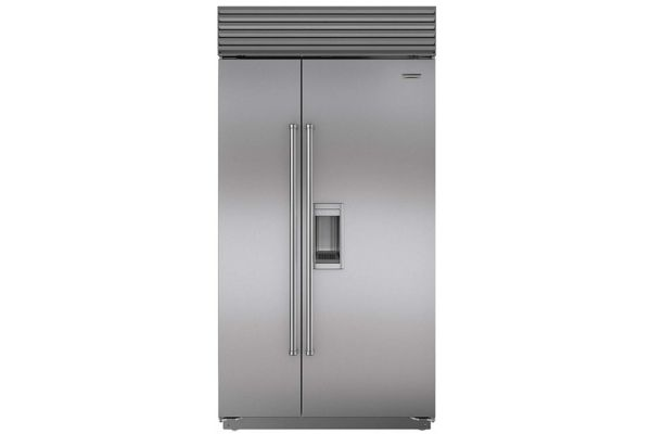 "Sub-Zero 42"" Stainless Steel with Pro Handles Built-In Side-By-Side Refrigerator - BI-42SD/S/PH"
