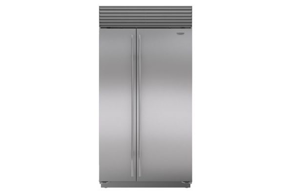 """Large image of Sub-Zero 42"""" Stainless Steel Classic Side-By-Side Refrigerator With Internal Dispenser - BI-42SID/S/TH"""