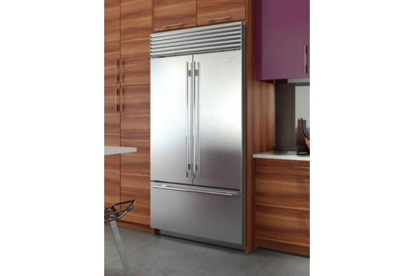 "Sub-Zero 42"" Built-In Stainless Steel French Door Refrigerator - BI42UFDIDSTH"