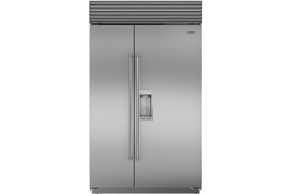 "Sub-Zero 48"" Stainless Steel Built-In Side-By-Side Refrigerator - BI-48SD/S/PH"