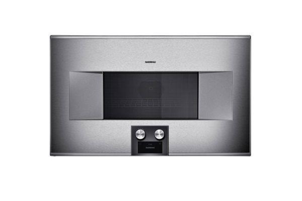 """Gaggenau 30"""" Stainless Steel 400 Series Speed Microwave Oven - BM485710"""