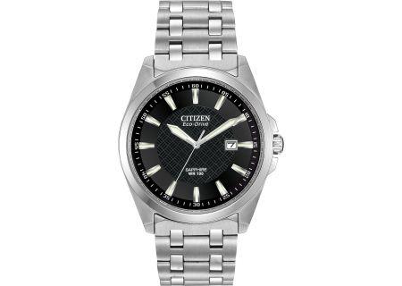 Citizen Eco-Drive Silver-Tone Stainless Steel Corso Mens Watch - BM7100-59E