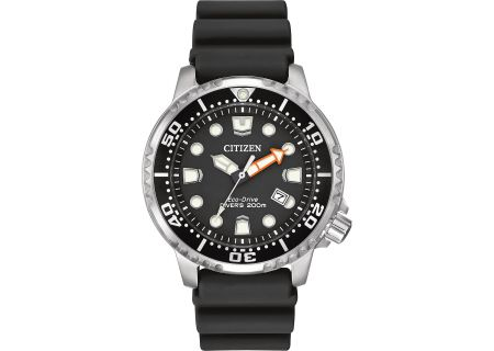 Citizen Eco-Drive Silver-Tone Stainless Steel Promaster Diver Mens Watch - BN0150-28E