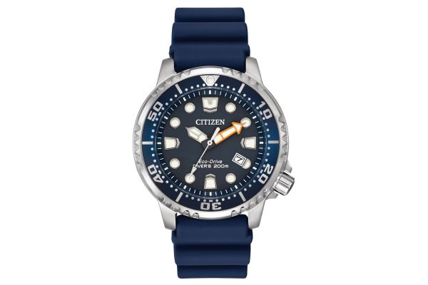 Citizen Eco-Drive Silver Tone Stainless Steel Promaster Professional Diver Mens Watch - BN0151-09L
